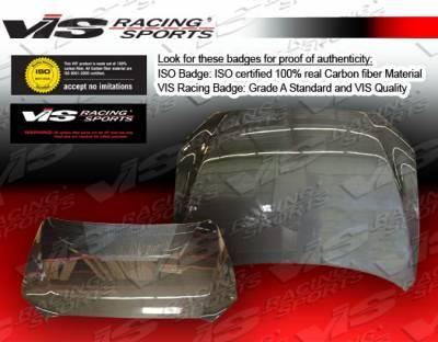 VIS Racing - Mitsubishi Lancer VIS Racing OEM Black Carbon Fiber Hood - 08MTLAN4DOE-010C