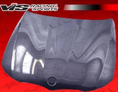 VIS Racing - BMW 3 Series 4DR VIS Racing OEM Black Carbon Fiber Hood - 09BME904DOE-010C