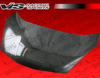 VIS Racing - Honda Fit VIS Racing OEM Black Carbon Fiber Hood - 09HDFIT4DOE-010C