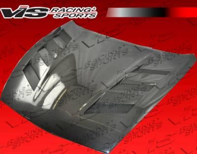 VIS Racing - Nissan 370Z VIS Racing AMS Black Carbon Fiber Hood - 09NS3702DAMS-010C