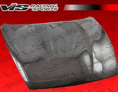 VIS Racing - Nissan 370Z VIS Racing OEM Black Carbon Fiber Hood - 09NS3702DOE-010C