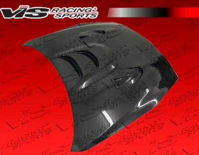 VIS Racing - Nissan Skyline VIS Racing MS Black Carbon Fiber Hood - 09NSR352DMS-010C