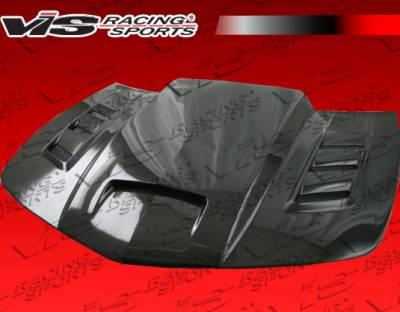 VIS Racing - Chevrolet Camaro VIS Racing Terminator Black Carbon Fiber Hood - 10CHCAM2DTM-010C