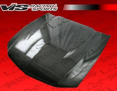 VIS Racing - Ford Mustang VIS Racing OEM Black Carbon Fiber Hood - 10FDMUS2DOE-010C