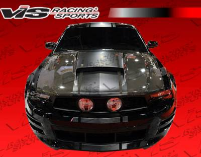 VIS Racing - Ford Mustang VIS Racing Stalker Black Carbon Fiber Hood - 10FDMUS2DSTK-010C