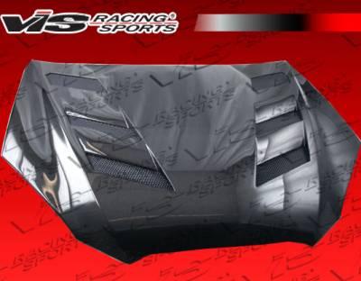VIS Racing - Hyundai Genesis VIS Racing AMS Black Carbon Fiber Hood - 10HYGEN2DAMS-010C