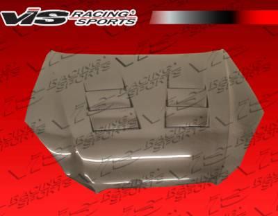 VIS Racing - Hyundai Genesis VIS Racing Terminator Black Carbon Fiber Hood - 10HYGEN2DTM-010C
