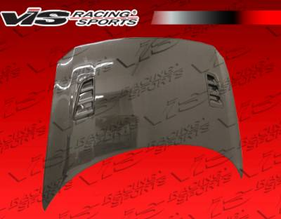 VIS Racing - Honda CR-Z VIS Racing RR Black Carbon Fiber Hood - 11HDCRZHBRR-010C