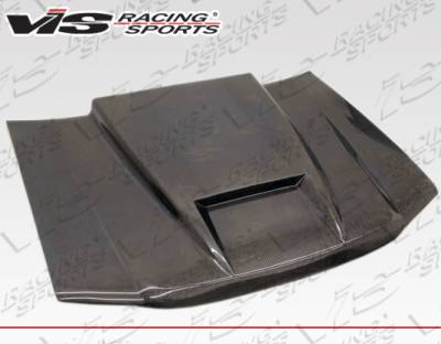 VIS Racing - Chevrolet S10 VIS Racing Carbon Fiber Ram Air Hood - 82CHS102DRAM-010C