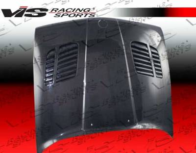 VIS Racing - BMW 3 Series VIS Racing GTR Black Carbon Fiber Hood - 84BME302DGTR-010C