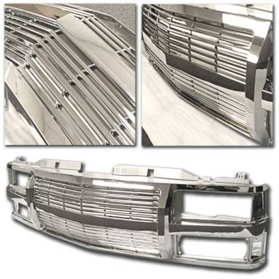 Custom - 1PC ALL Chrome Front Grille