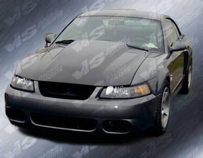 VIS Racing - Ford Mustang VIS Racing Cowl Induction Fiberglass Hood - 87FDMUS2DCI-010