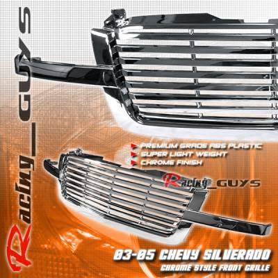 Custom - Front 1PC All Chrome Grille