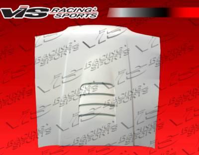 VIS Racing - Ford Mustang VIS Racing Cobra R 2000 Fiberglass Hood - 87FDMUS2DCR-010