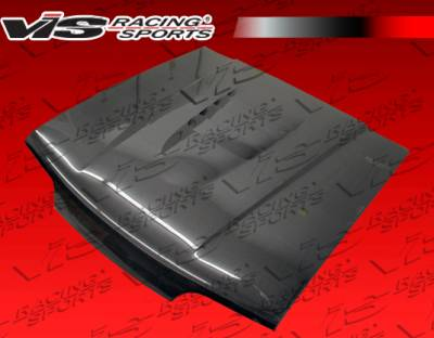 VIS Racing - Ford Mustang VIS Racing Cobra R-2000 Black Carbon Fiber Hood - 87FDMUS2DCR-010C