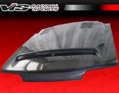 VIS Racing - Ford Mustang VIS Racing GT-500 Black Carbon Fiber Hood - 87FDMUS2DGT5-010C