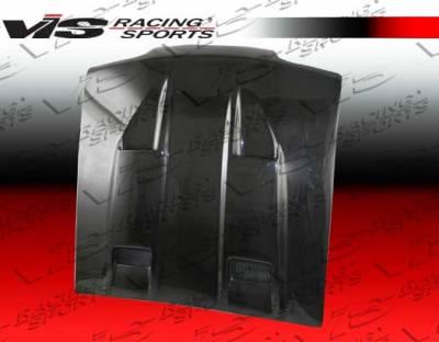 VIS Racing - Ford Mustang VIS Racing Marh-5 Black Carbon Fiber Hood - 87FDMUS2DMK5-010C