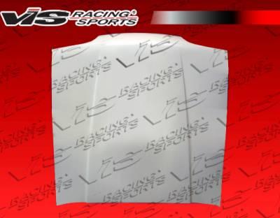 VIS Racing - Ford Mustang VIS Racing OEM Style Fiberglass Hood - 87FDMUS2DOE-010