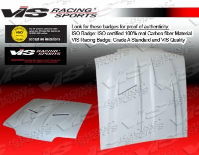 VIS Racing - Ford Mustang VIS Racing Stalker 2 Fiberglass Hood - 87FDMUS2DSTK2-010