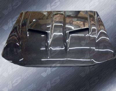 VIS Racing - Ford Mustang VIS Racing Stalker-2 Black Carbon Fiber Hood - 87FDMUS2DSTK2-010C