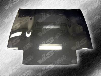 VIS Racing - Nissan 300Z VIS Racing OEM Black Carbon Fiber Hood - 87NS3002DOE-010C