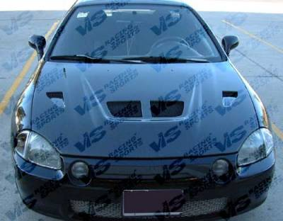 VIS Racing - Honda CRX VIS Racing Xtreme GT Black Carbon Fiber Hood - 88HDCRXHBGT-010C