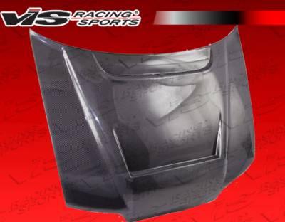 VIS Racing - Honda CRX VIS Racing JS Black Carbon Fiber Hood - 88HDCRXHBJJS-010C