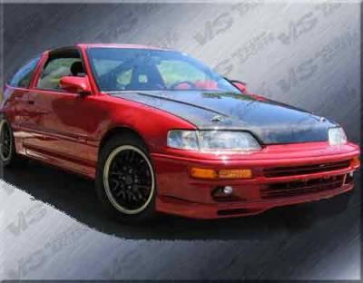 VIS Racing - Honda Civic VIS Racing SIR Black Carbon Fiber Hood - 88HDCRXHBJSI-010C