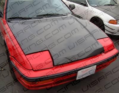 VIS Racing - Honda Prelude VIS Racing OEM Black Carbon Fiber Hood - 88HDPRE2DOE-010C