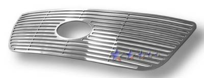 APS - Ford F150 APS CNC Grille - Honeycomb with Logo Opening - Upper - Aluminum - F95722A