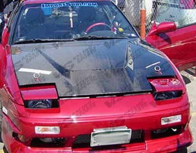 VIS Racing - Nissan 240SX VIS Racing Invader Black Carbon Fiber Hood - 89NS2402DVS-010C