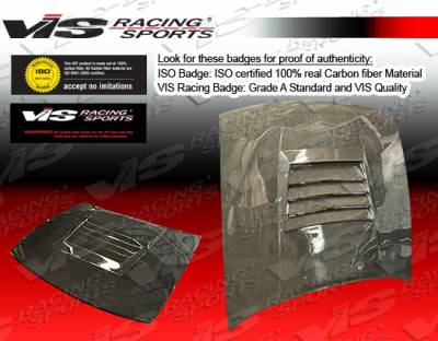 VIS Racing - Nissan S13 VIS Racing Drift Black Carbon Fiber Hood - 89NSS132DDFT-010C