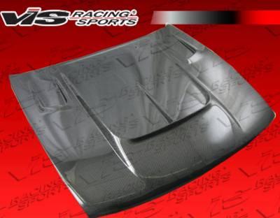 VIS Racing - Nissan S13 VIS Racing Drift-2 Black Carbon Fiber Hood - 89NSS132DDFT2-010C