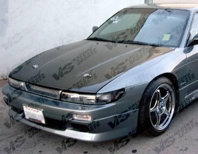 VIS Racing - Nissan S13 VIS Racing OEM Black Carbon Fiber Hood - 89NSS132DOE-010C