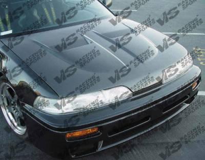 VIS Racing - Acura Integra VIS Racing Xtreme GT Black Carbon Fiber Hood - 90ACINT2DGT-010C