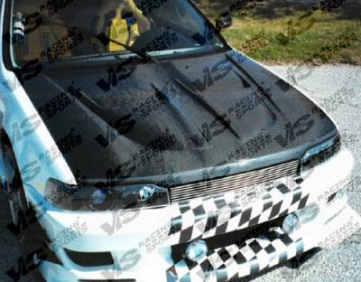 VIS Racing - Honda Accord 2DR & 4DR VIS Racing Xtreme GT Black Carbon Fiber Hood - 90HDACC2DGT-010C