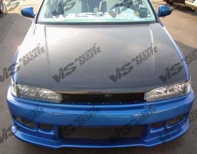 VIS Racing - Honda Accord 2DR & 4DR VIS Racing OEM Black Carbon Fiber Hood - 90HDACC2DOE-010C
