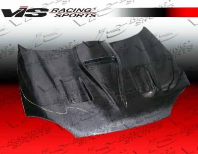 VIS Racing - Mazda MX3 VIS Racing G Force Black Carbon Fiber Hood - 90MZMX32DGF-010C