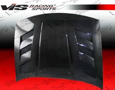 VIS Racing - Nissan 300Z VIS Racing AMS Black Carbon Fiber Hood - 90NS3002DAMS-010C