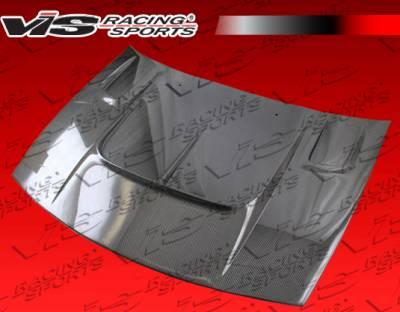 VIS Racing - Nissan 300Z VIS Racing Techno R Black Carbon Fiber Hood - 90NS3002DTNR-010C