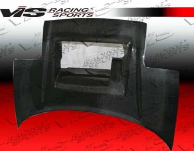 VIS Racing - Acura NSX VIS Racing Super GT Black Carbon Fiber Hood - 91ACNSX2DSGT-010C