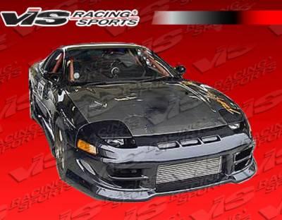 VIS Racing - Mitsubishi 3000GT VIS Racing OEM Black Carbon Fiber Hood - 91MT3K2DOE-010C