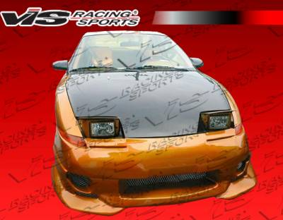 VIS Racing - Saturn SC Coupe VIS Racing OEM Black Carbon Fiber Hood - 91SASC22DOE-010C