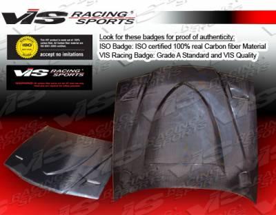 VIS Racing - BMW 3 Series 4DR VIS Racing Euro R Black Carbon Fiber Hood - 92BME364DEUR-010C