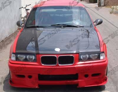 VIS Racing - BMW 3 Series 4DR VIS Racing OEM Black Carbon Fiber Hood - 92BME364DOE-010C