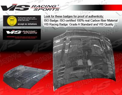VIS Racing - Honda Civic 2DR VIS Racing Cyber Black Carbon Fiber Hood - 92HDCVC2DCY-010C