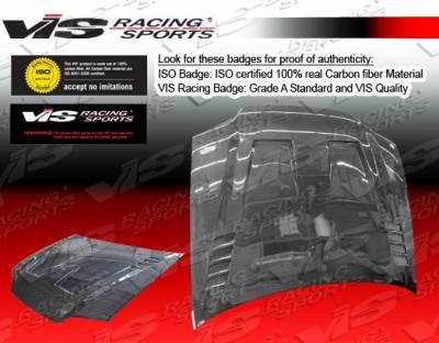 VIS Racing - Honda Civic 2DR VIS Racing Cyber Black Carbon Fiber Hood - 92HDCVC2DCY-010C