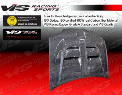 VIS Racing - Honda Civic 2DR & Hatchback VIS Racing Fuzion Carbon Fiber Hood - 92HDCVC2DFUZ-010C