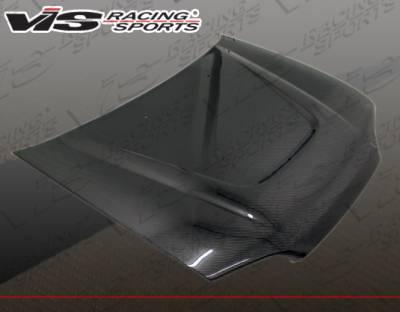 VIS Racing - Honda Civic 2DR & Hatchback VIS Racing JS Carbon Fiber Hood - 92HDCVC2DJS-010C
