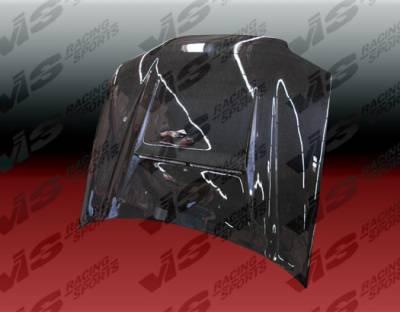 VIS Racing - Honda Civic 2DR VIS Racing N-1 Black Carbon Fiber Hood - 92HDCVC2DN1-010C